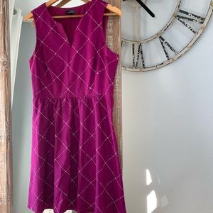 The Limited Magenta Sleeveless Dress